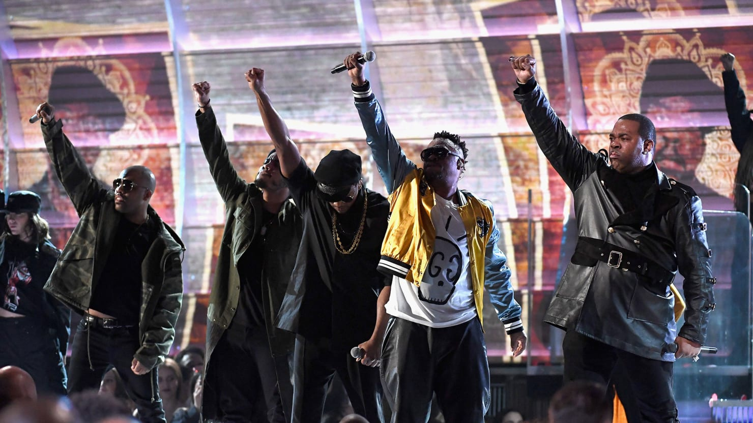 A Tribe Called Quest Come for 'Agent Orange' Trump at the Grammys
