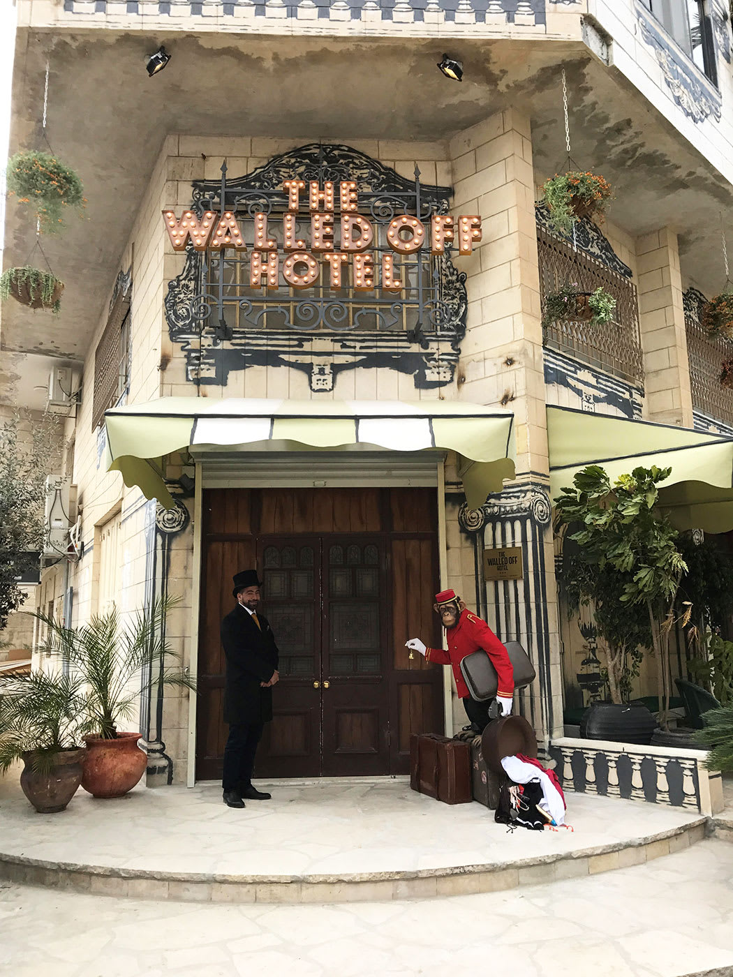 An Inside Look at Banksy's New 'Walled Off Hotel' in Bethlehem
