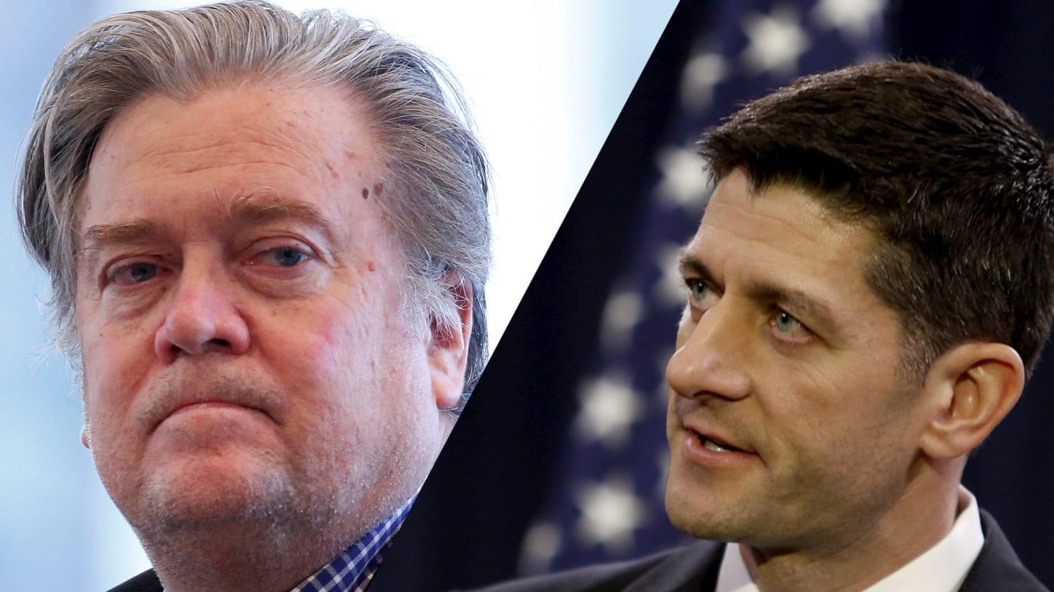 Paul Ryan Readies to Work With 'Enemy' Steve Bannon