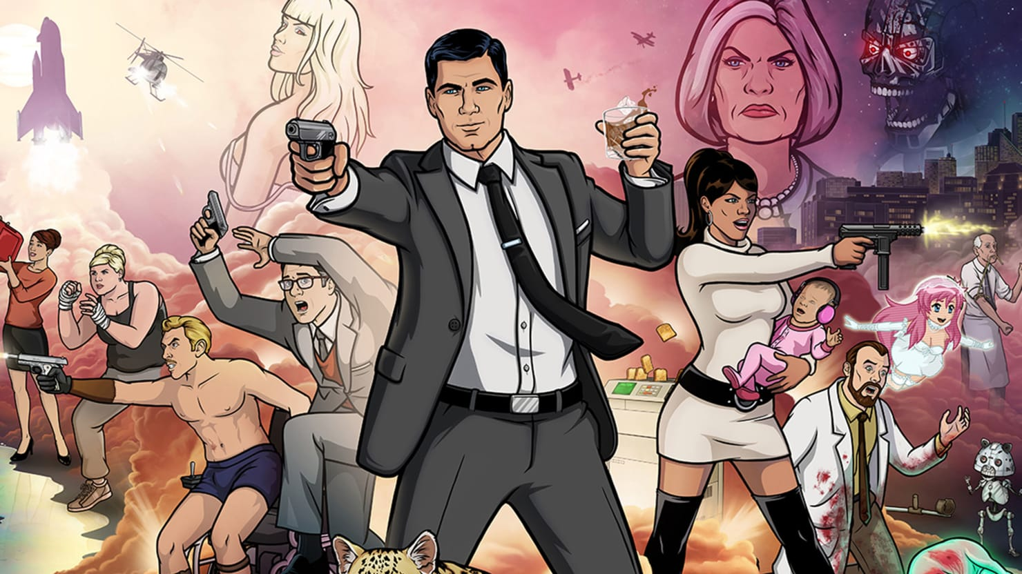 Toasting the Art of Super-Spy Archer