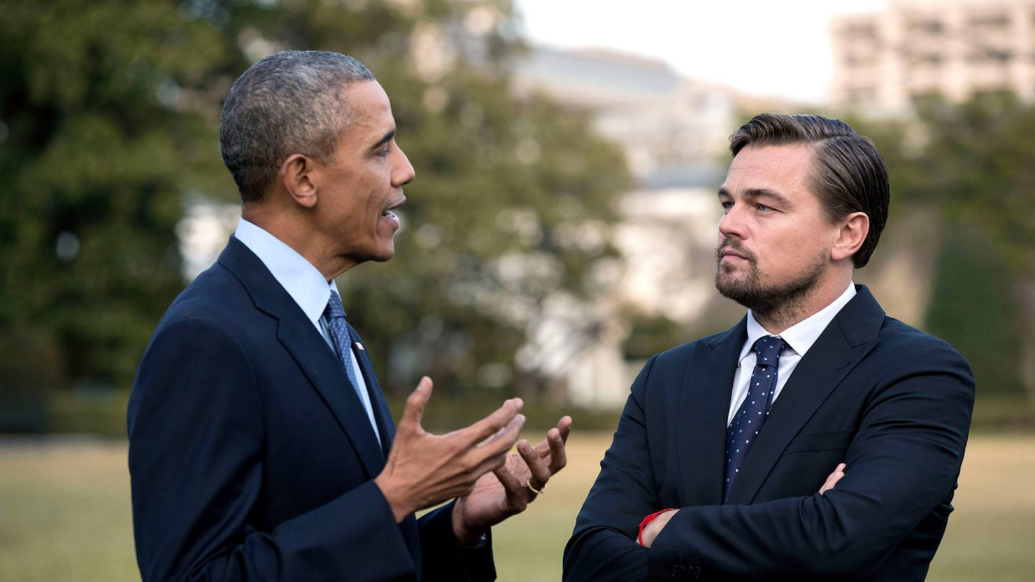 Leo DiCaprio Praises Obama, Shades Donald Trump in Climate Change Talk at South by South Lawn