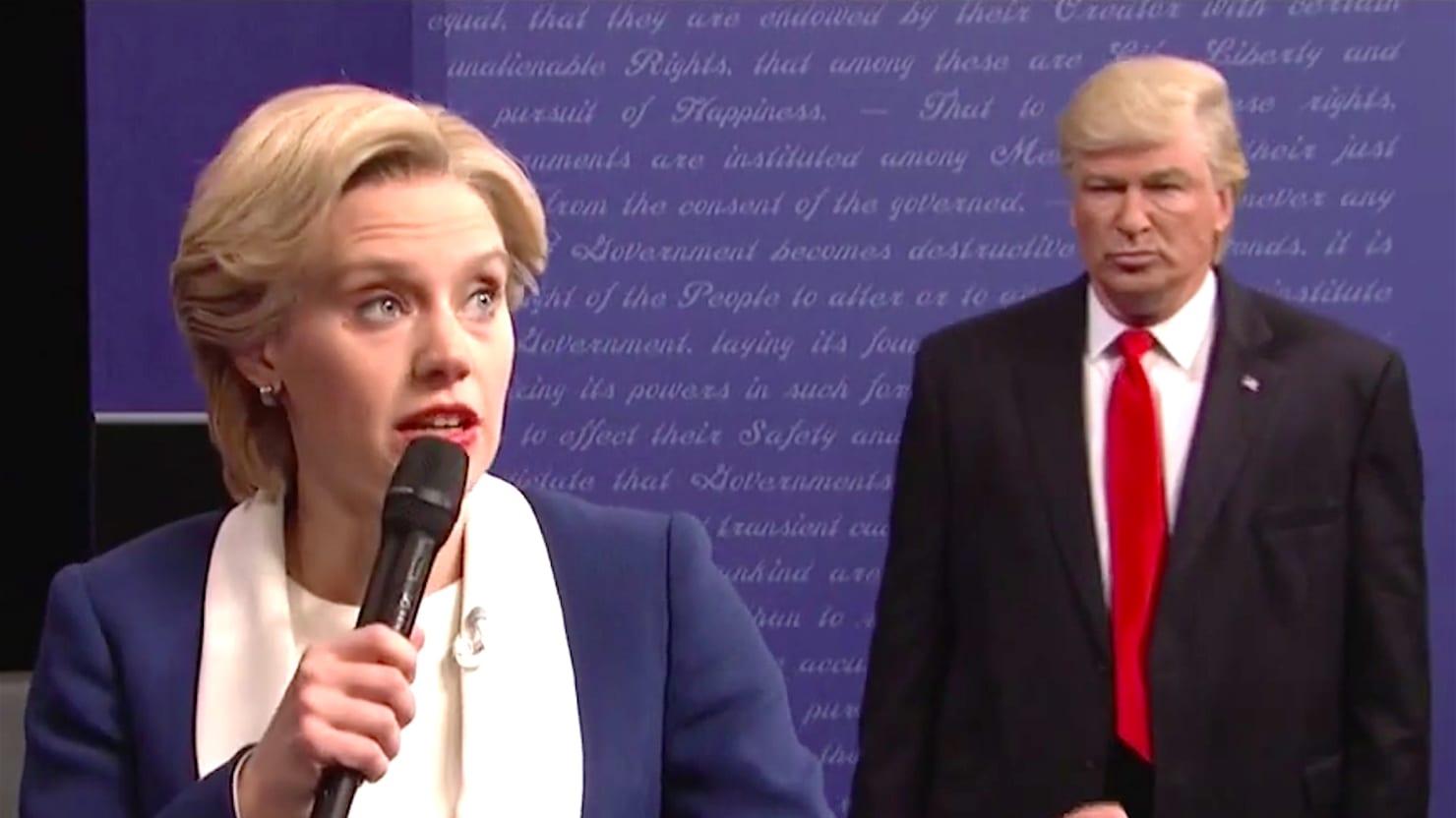 SNL Debate: Baldwin's Trump Hands the Election to 'President Clinton'