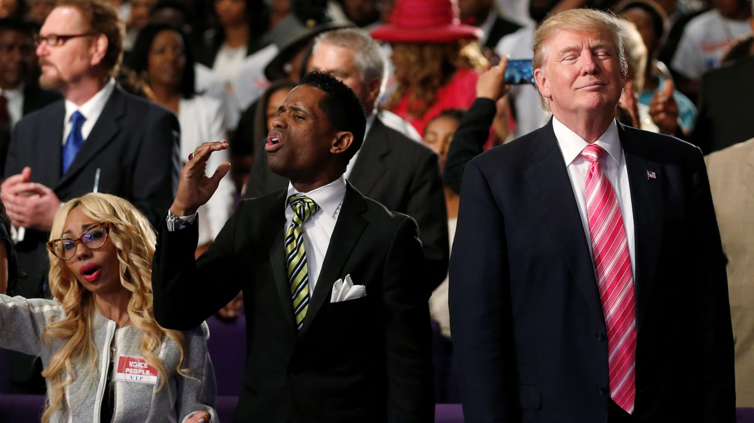 Donald Trump The Birther Goes To A Black Church In Detroit