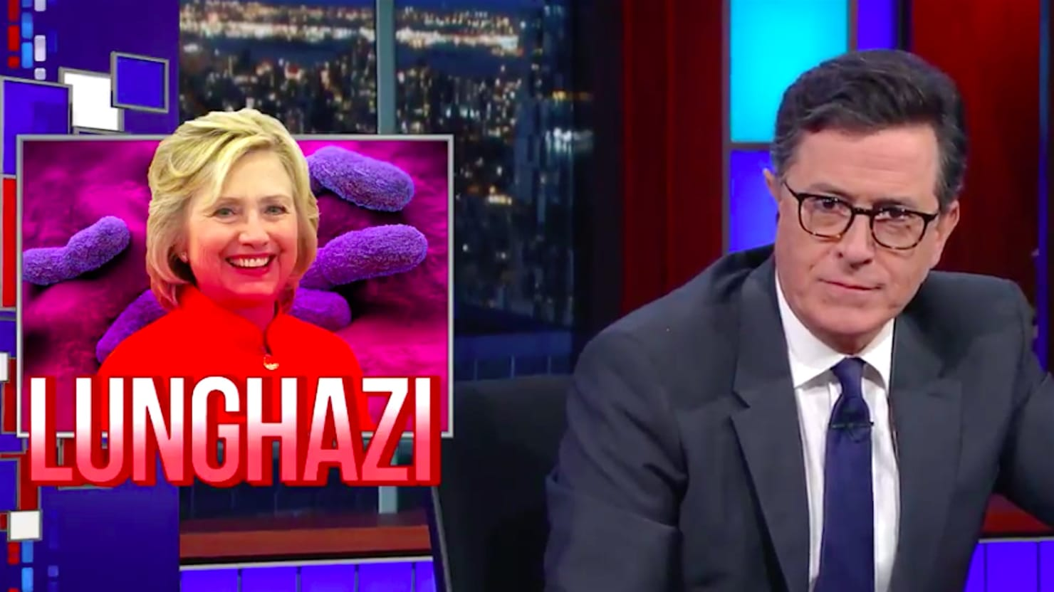 Stephen Colbert Takes on Hillary Clinton's Pneumonia: 'Even Her Immune System Turned Against Her'