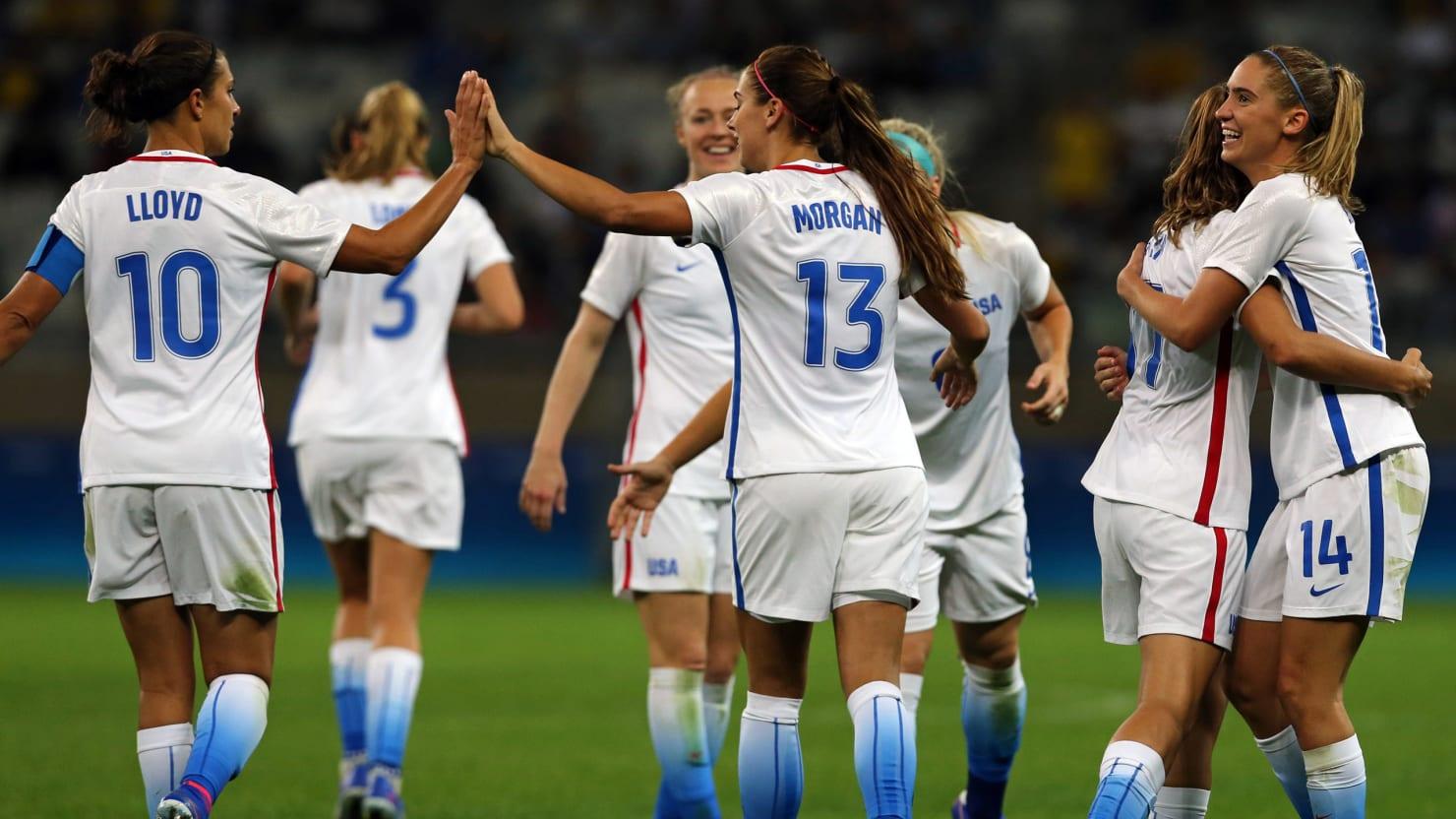 Usa Soccer Team Women Rio Olympics 2016: How...