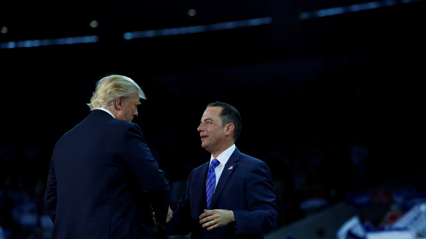 reince priebus at trump rally don t believe the hype gop. Black Bedroom Furniture Sets. Home Design Ideas