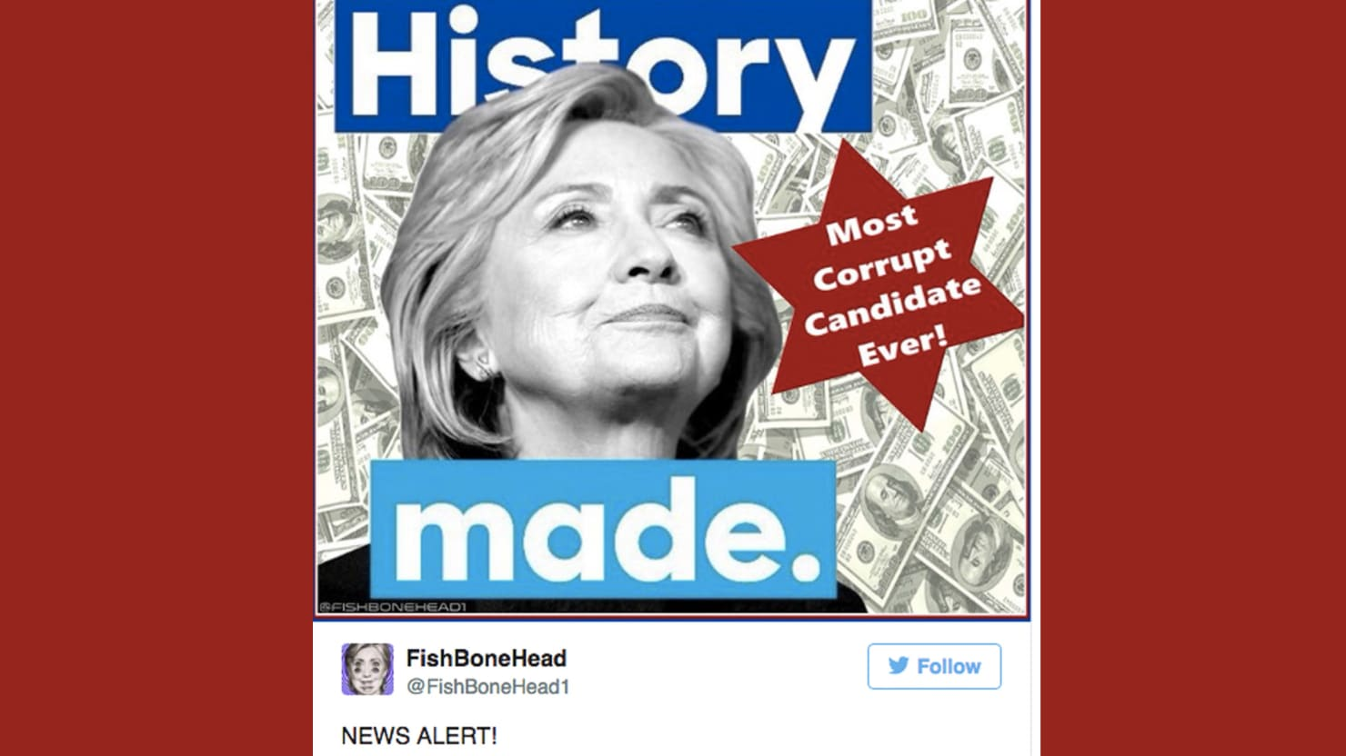 Trumps Star Of David Hillary Meme Was Made By Racist