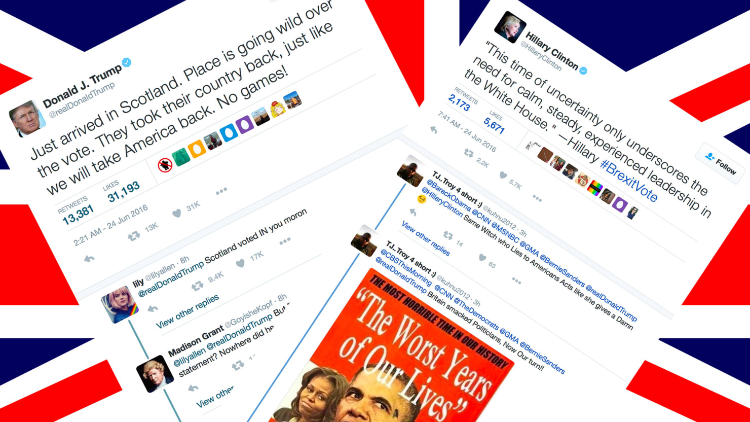 Brexit Twitter: Celebrities React To Brexit On Twitter