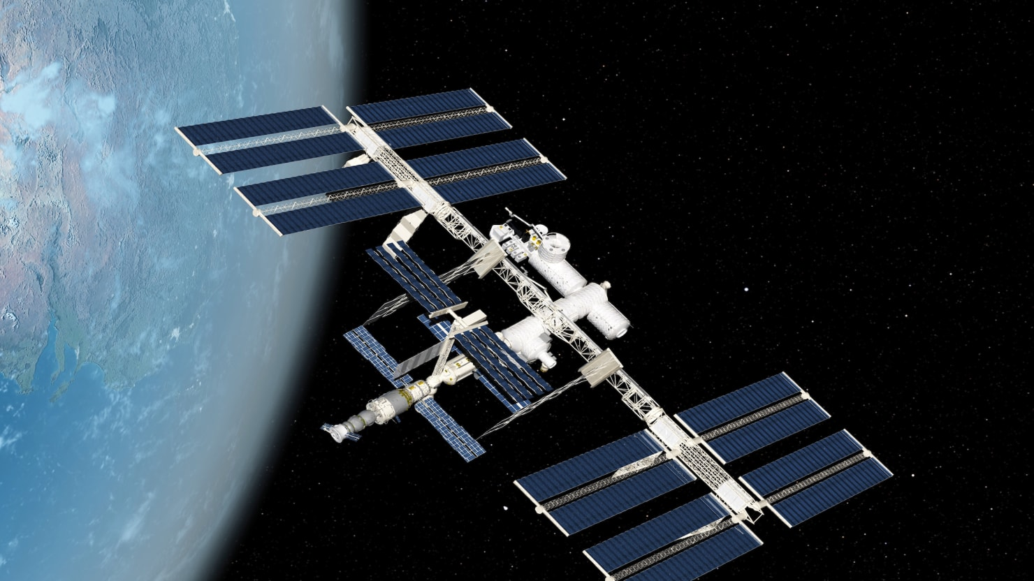 Wtf was that thing near the international space station for Space v place