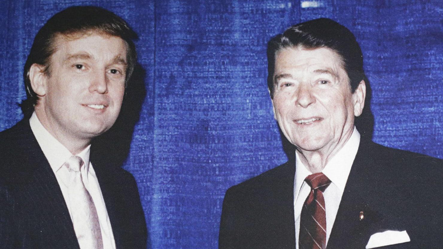 Trump Used Anti Obama Riffs Against Reagan First