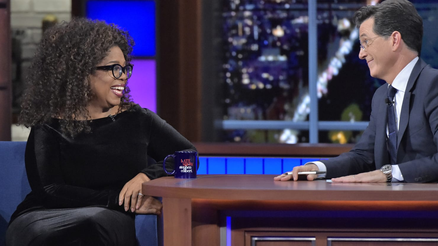 Stephen Colbert and Oprah Get Biblical on 'The Late Show'