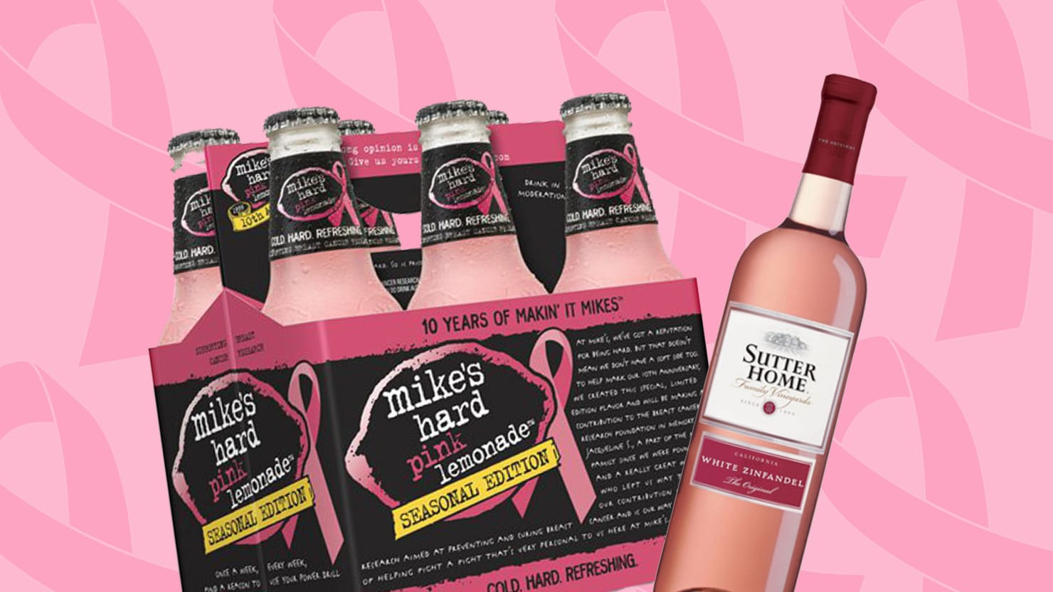 cbb574fd254a How These Booze Makers Co-Opted the Pink Ribbon