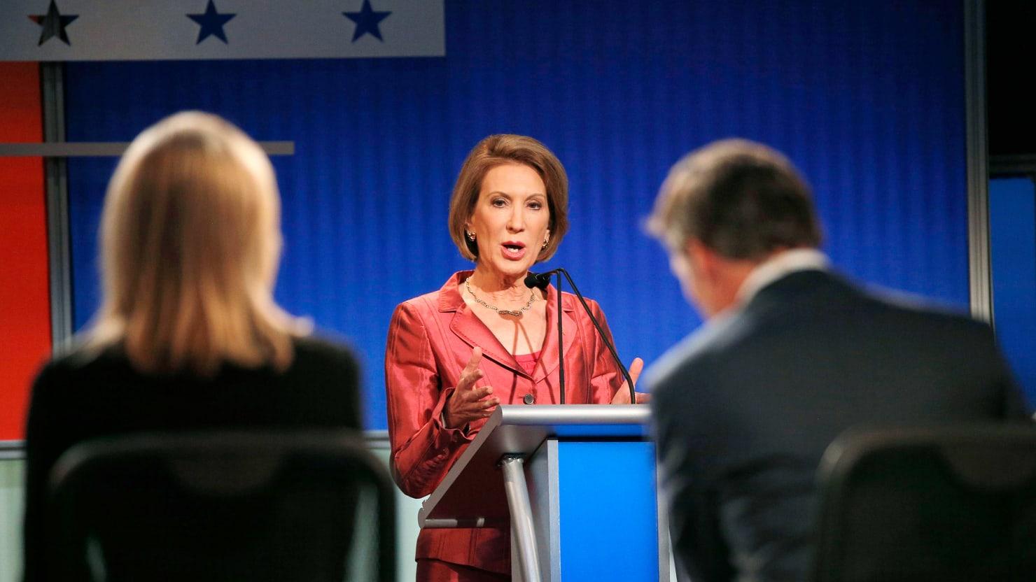 Carly Fiorina Dominates First GOP Debate