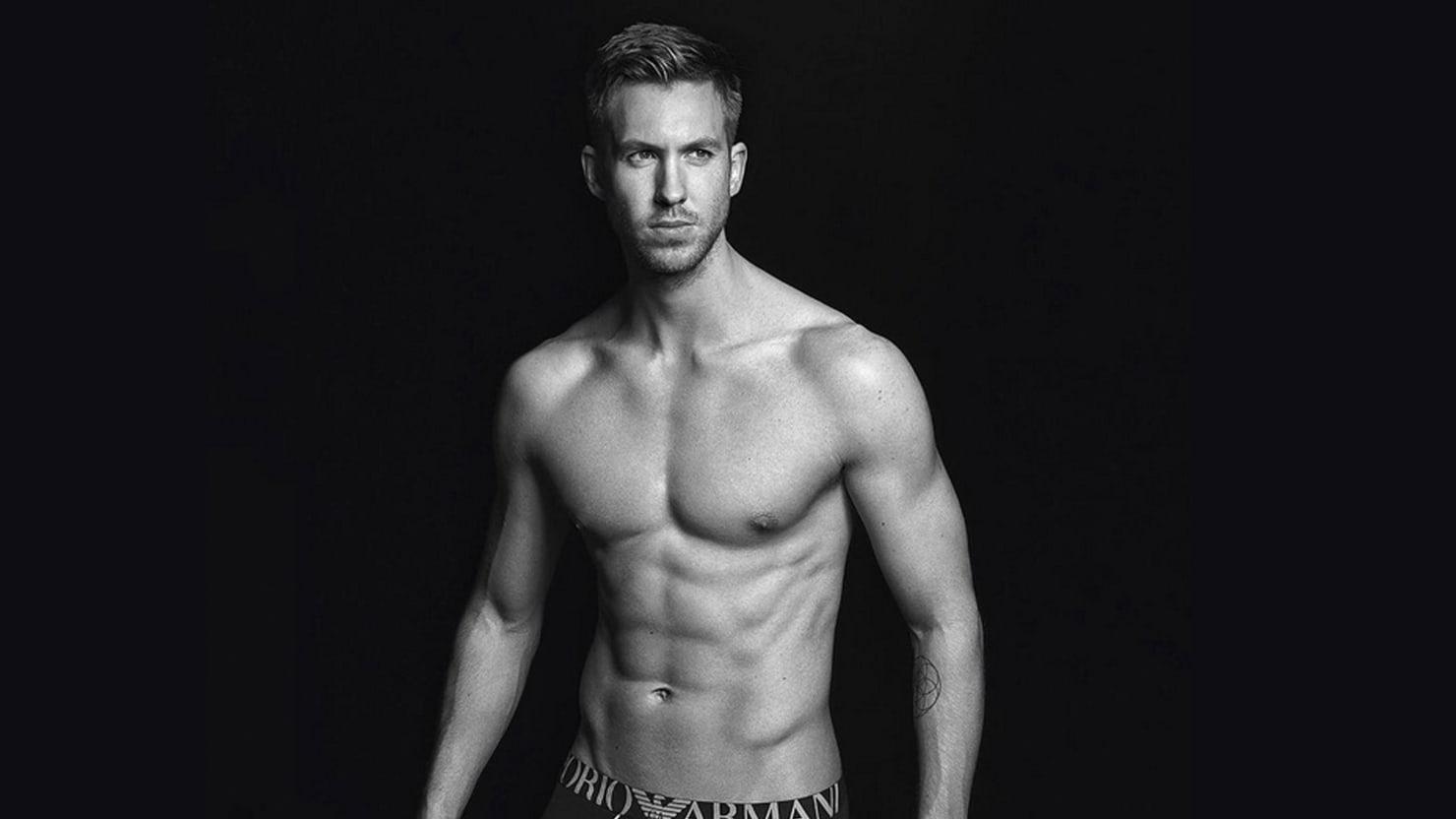 How Mr. Taylor Swift, Calvin Harris, Became An Armani Underwear Hunk