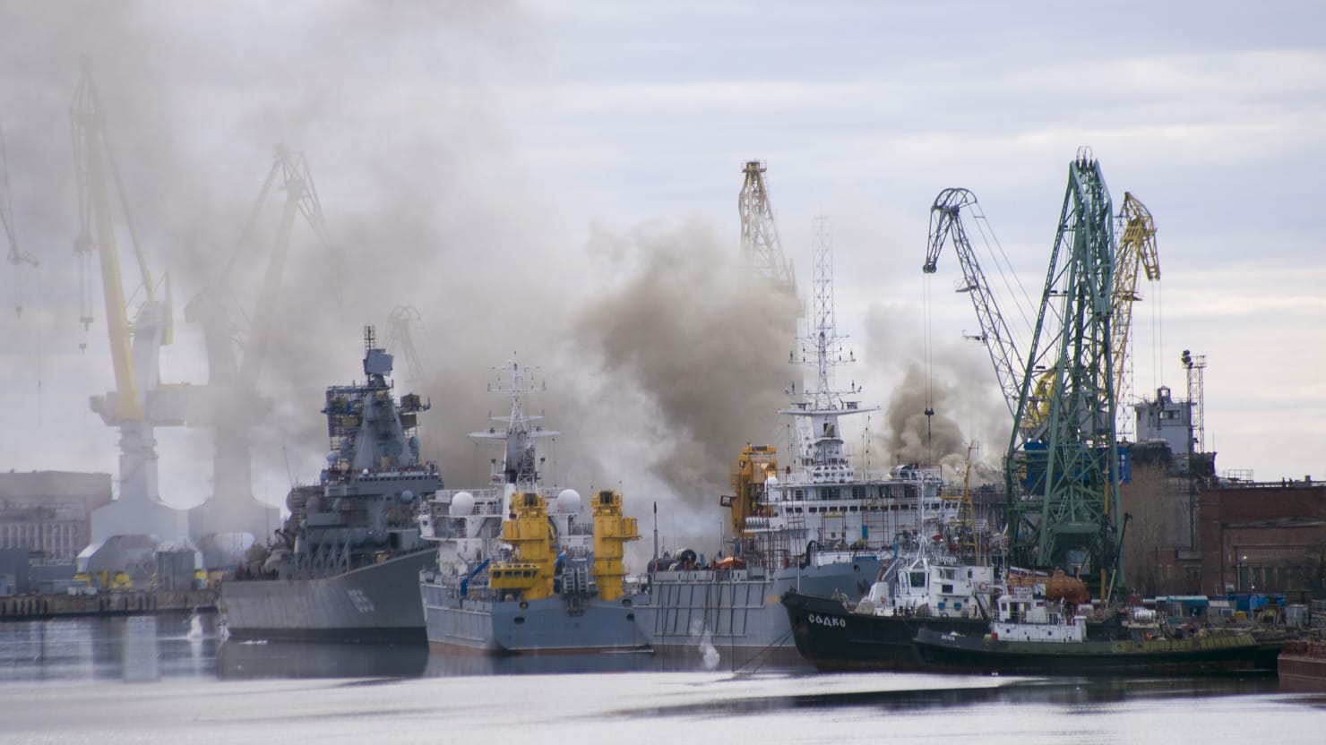 Russian Nuclear Submarine Goes Up in Flames