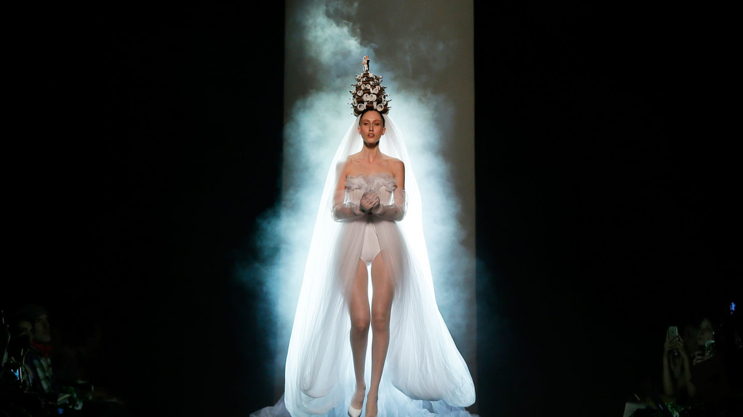 Here Comes The Couture Bride: Paris' Outrageous Wedding Dresses