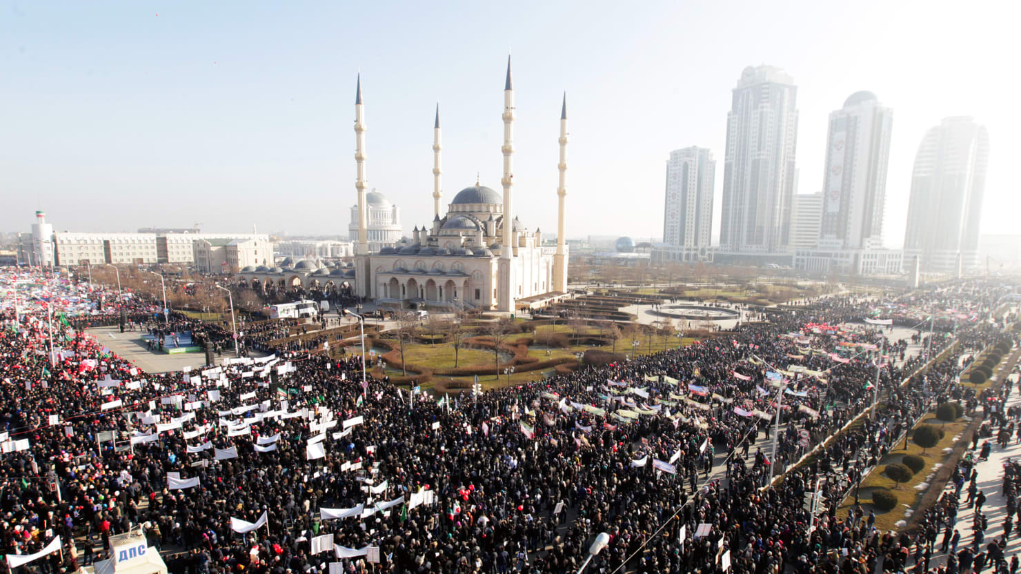 Chechnya Vs. Charlie: Grozny Holds Biggest Protest Ever To Oppose Muhammed Cartoons
