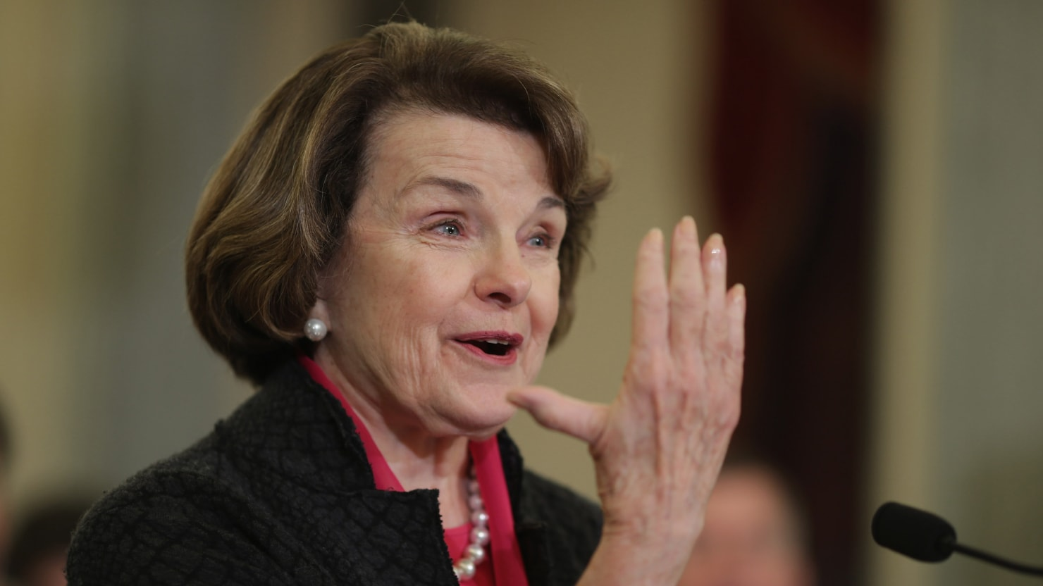 Dianne Feinstein and the Pink Drone, or Was It?