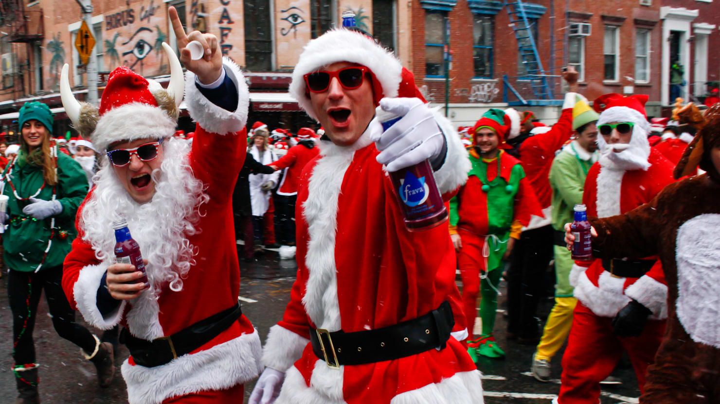 Before The Bros Santacon Was As An Anti Corporate Protest