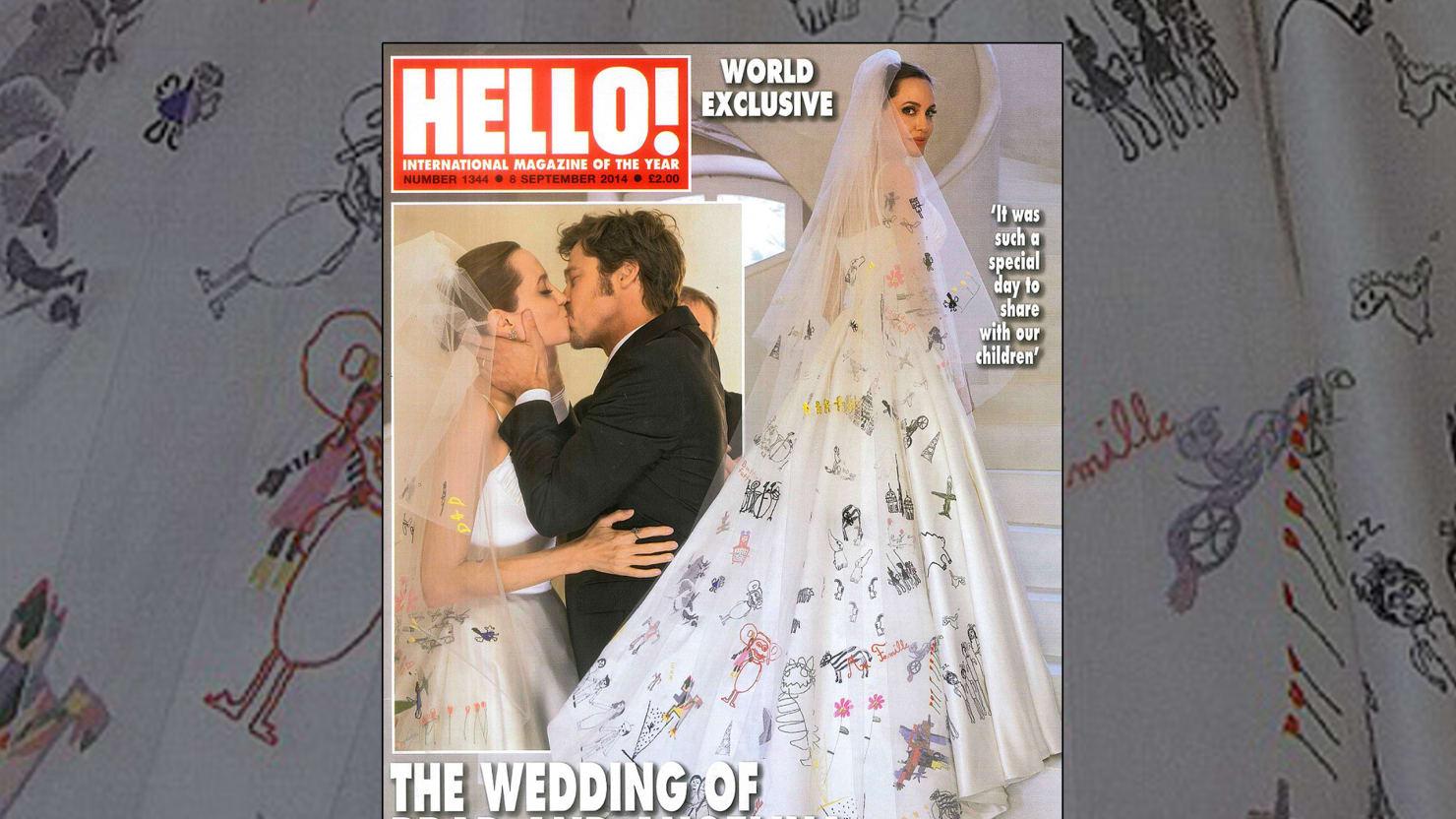 Angelina Jolie\'s Wedding Dress Was Crazy Brilliant