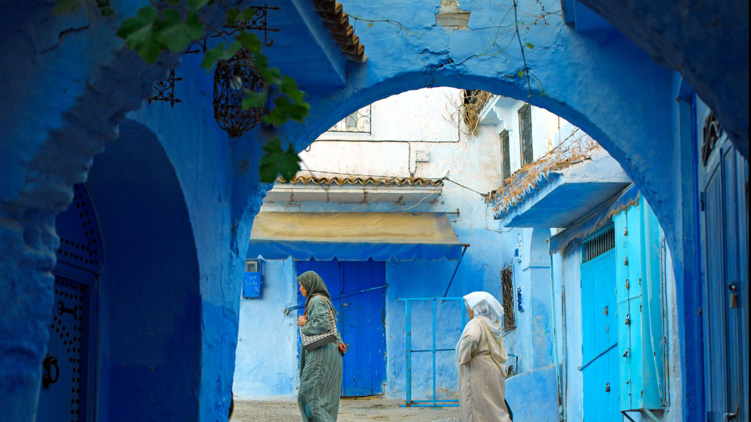 Moroccos Secret AllBlue City - Old town morocco entirely blue