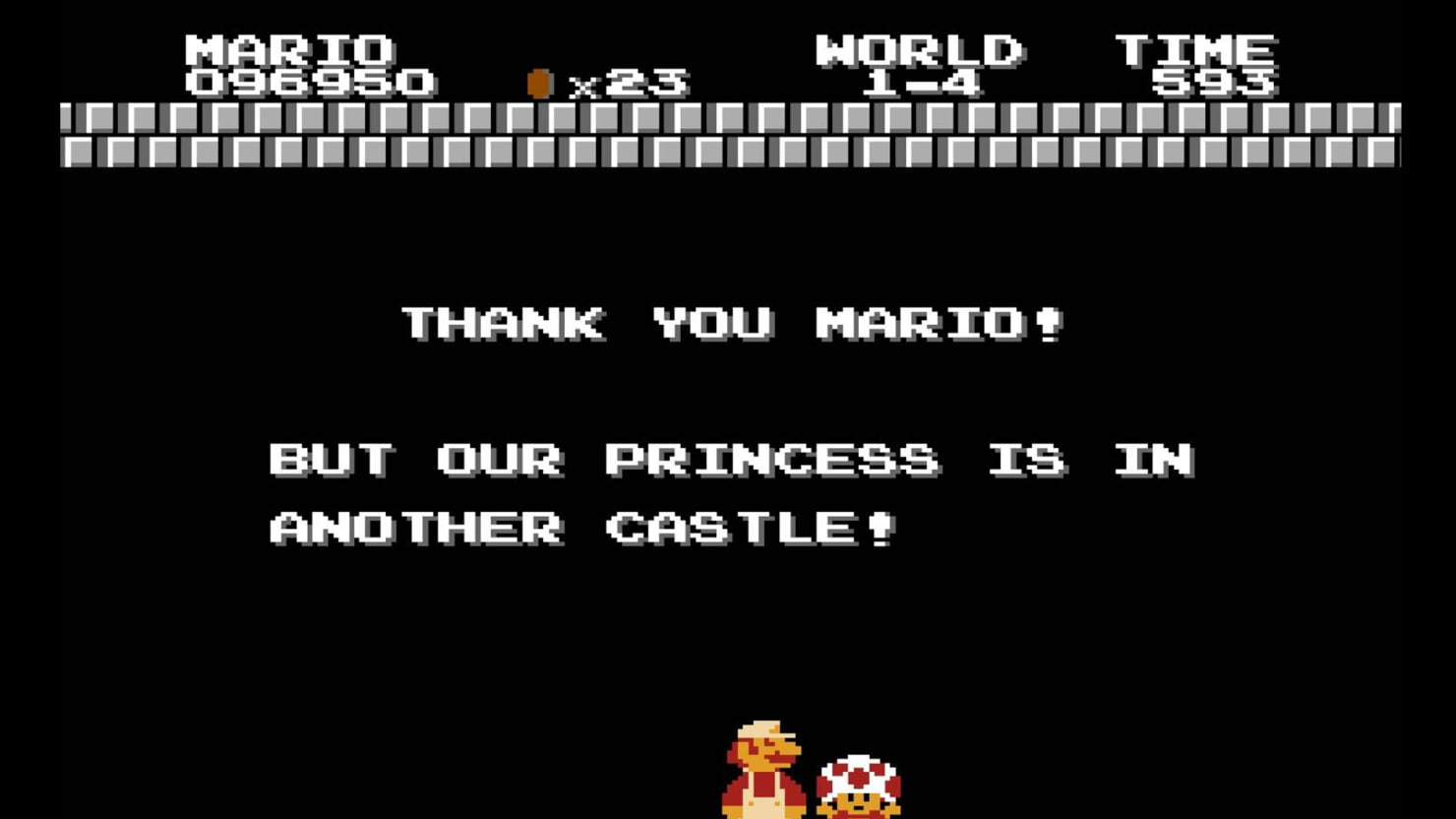 Image result for your princess is in another castle