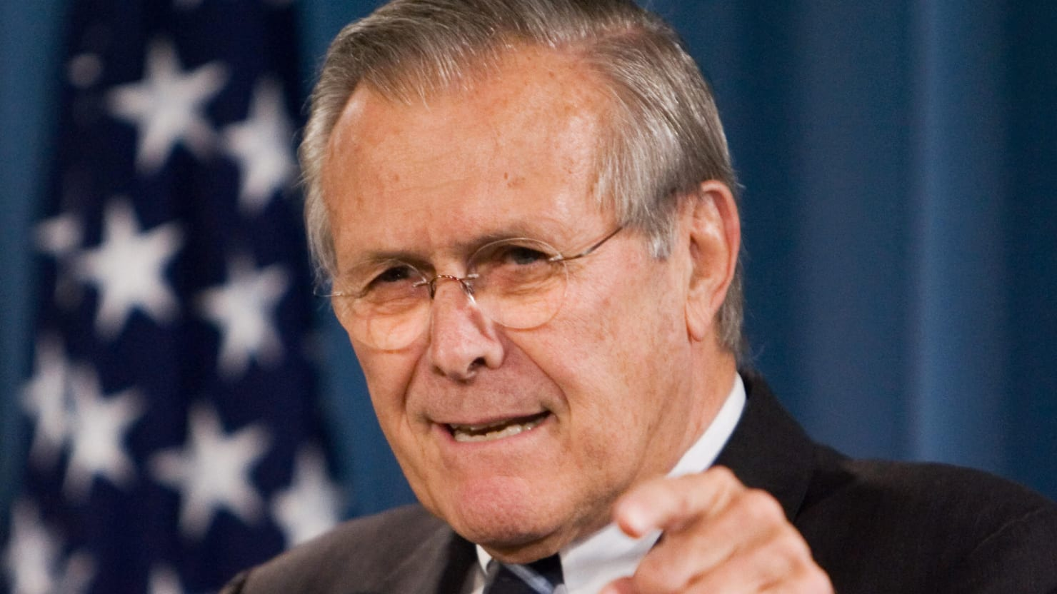 Exclusive: Watch Donald Rumsfeld Lie About Saddam Hussein and 9/11 in 'The Unknown Known'