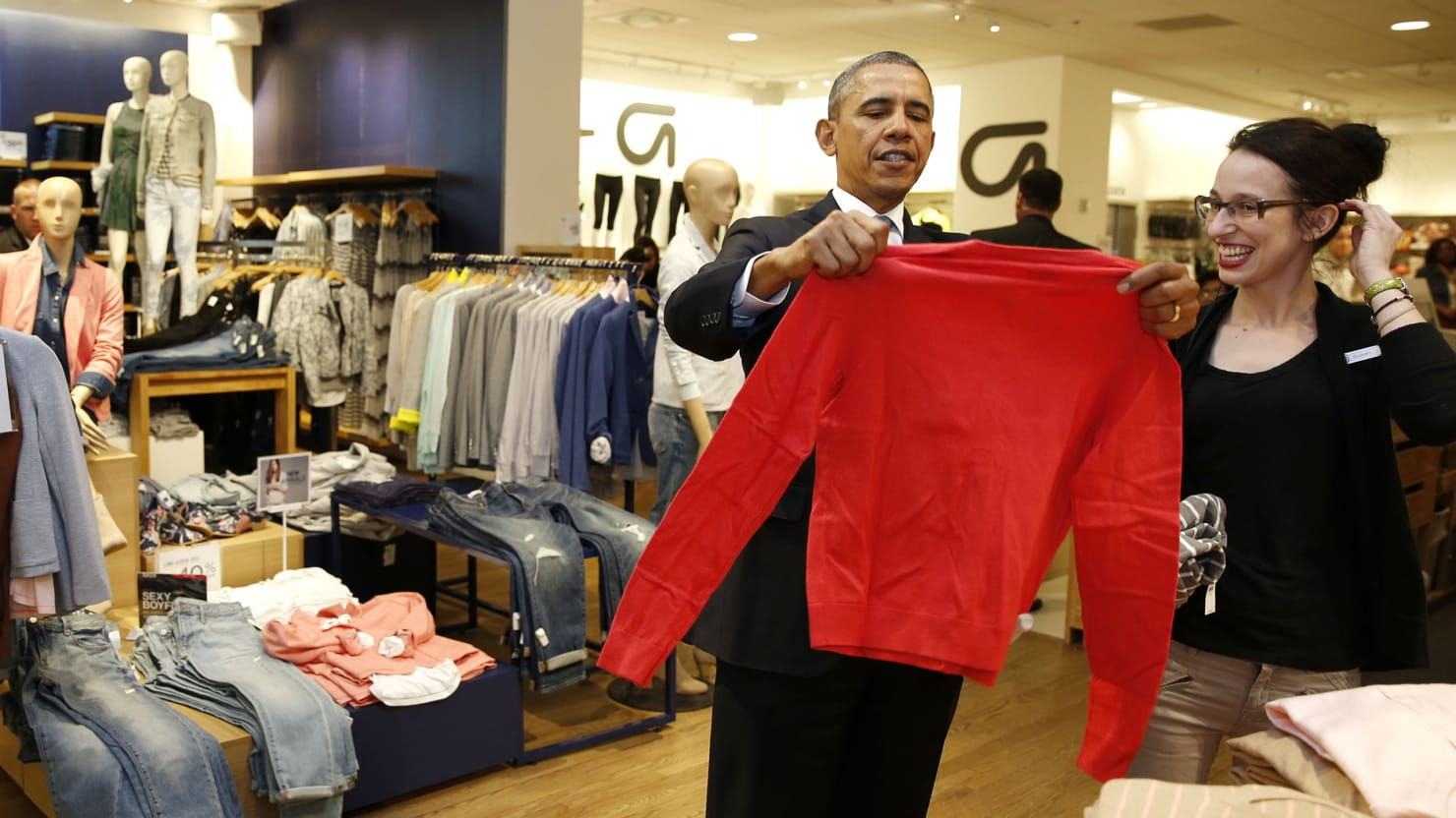 President Obama Shops at The Gap; Vanessa Friedman Joins 'The New York Times'