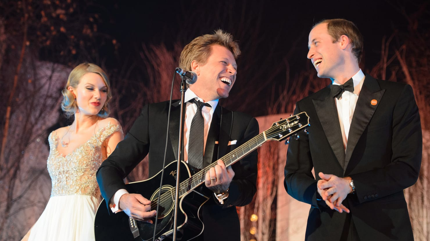 """Taylor Swift Says Singing """"Livin' On A Prayer"""" with Prince William Was His Idea"""