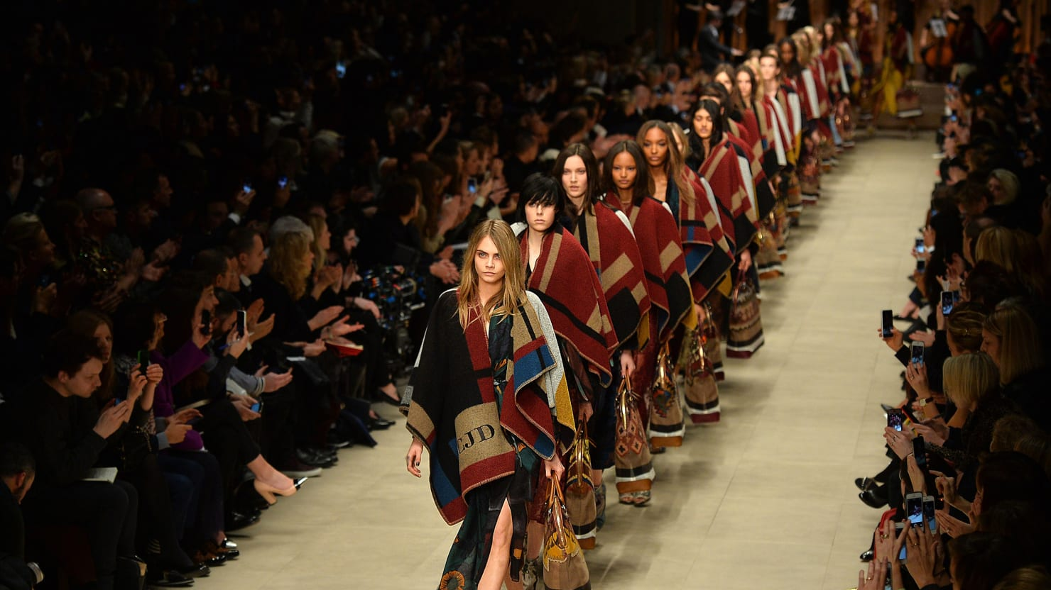 Art Takes the Runway at Burberry Prorsum Fall/Winter 2014 London Fashion Week