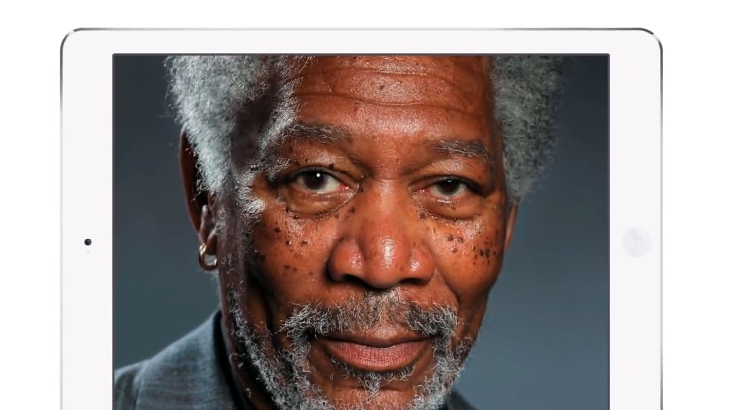 This iPad Finger Painting of Morgan Freeman Is Amazingly Realistic