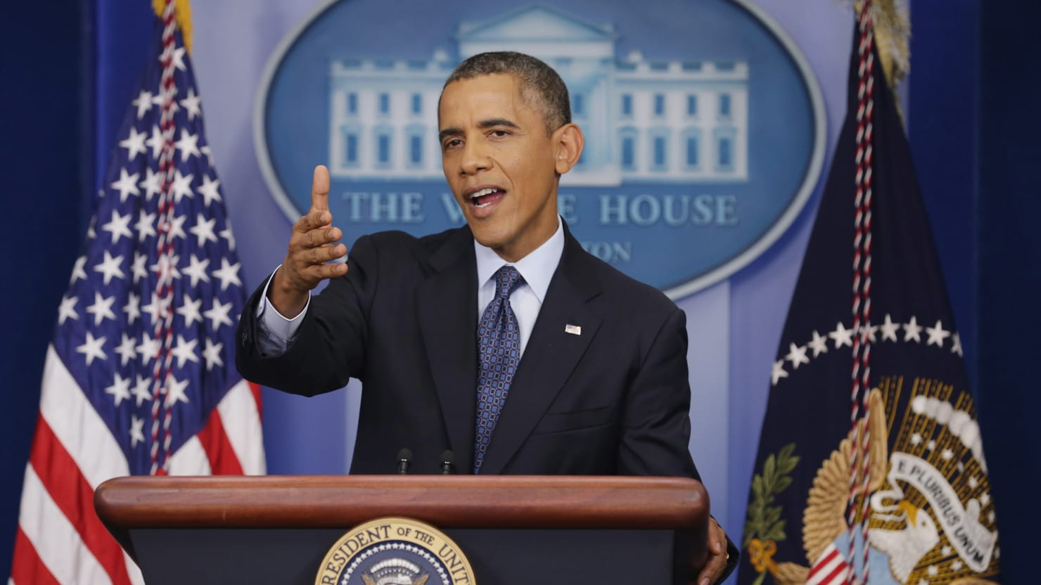 Obama at the Shutdown Press Conference: 'Lord Knows I'm Tired of It'