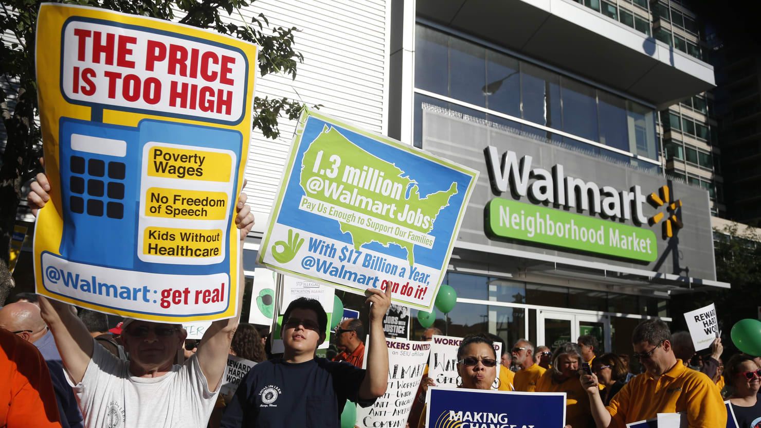 Walmart Protesters Tell One Story, and Employees Tell Another
