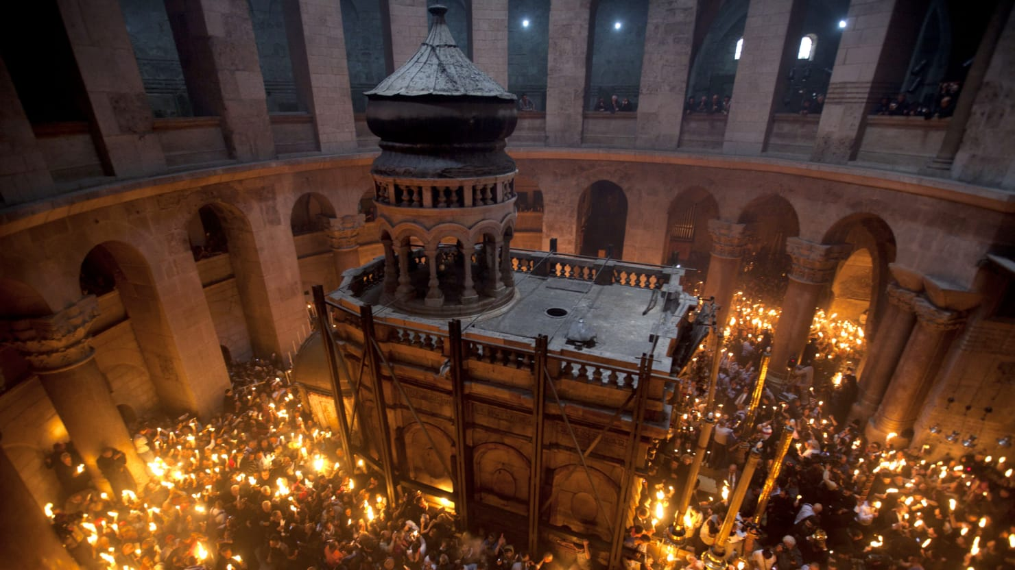 Christian Monks Square Off at One of Jerusalem's Holiest Sites