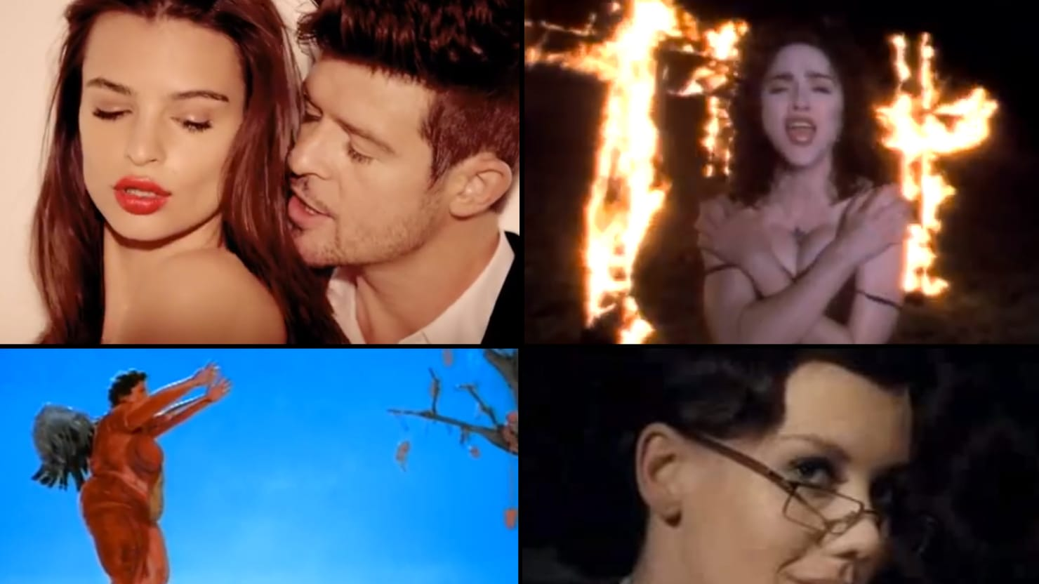 Robin Thicke, Madonna & More of Music's Most Scandalous Videos