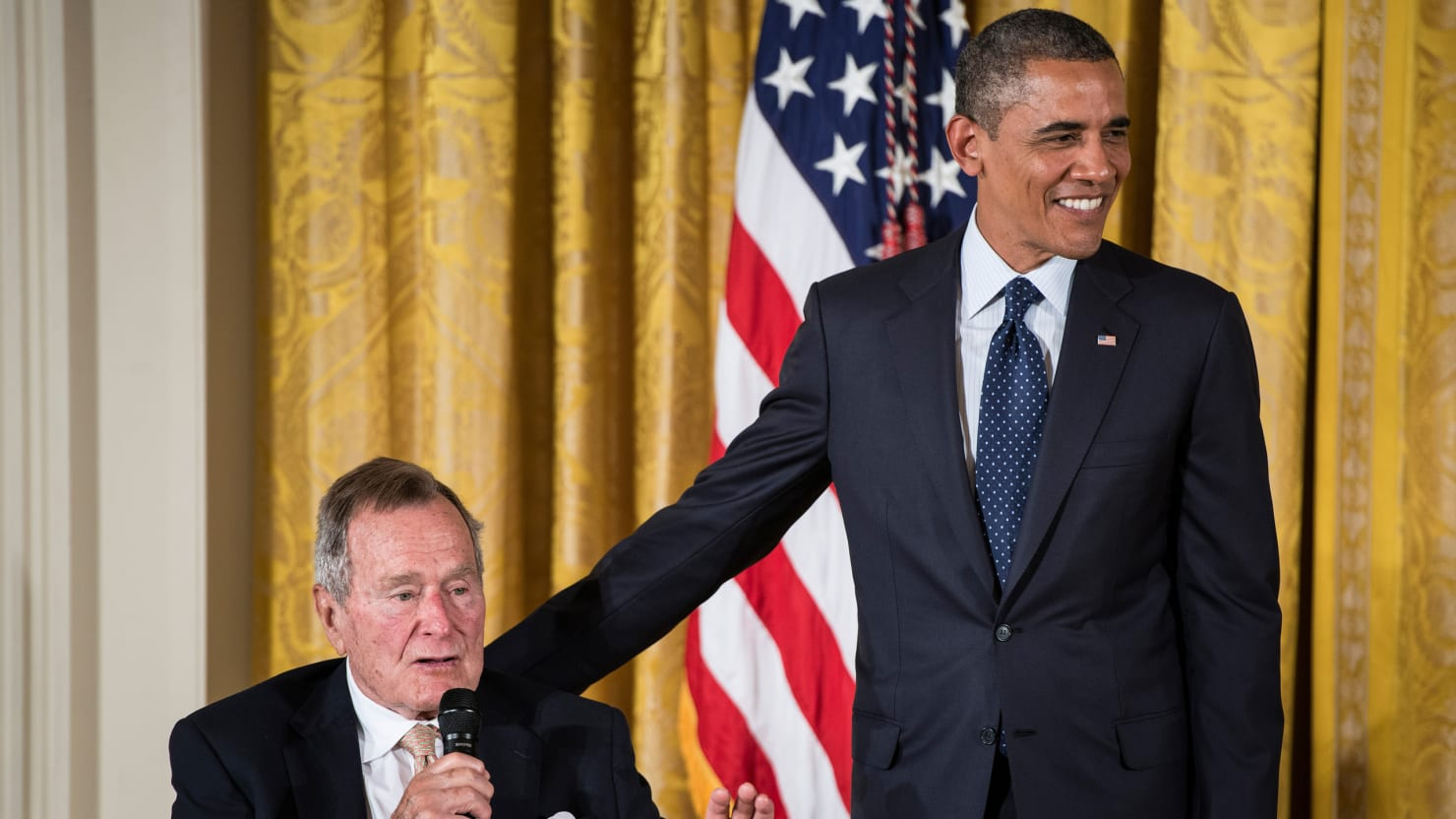 George H.W. Bush, Our Preppiest Ex-President, Honored at White House