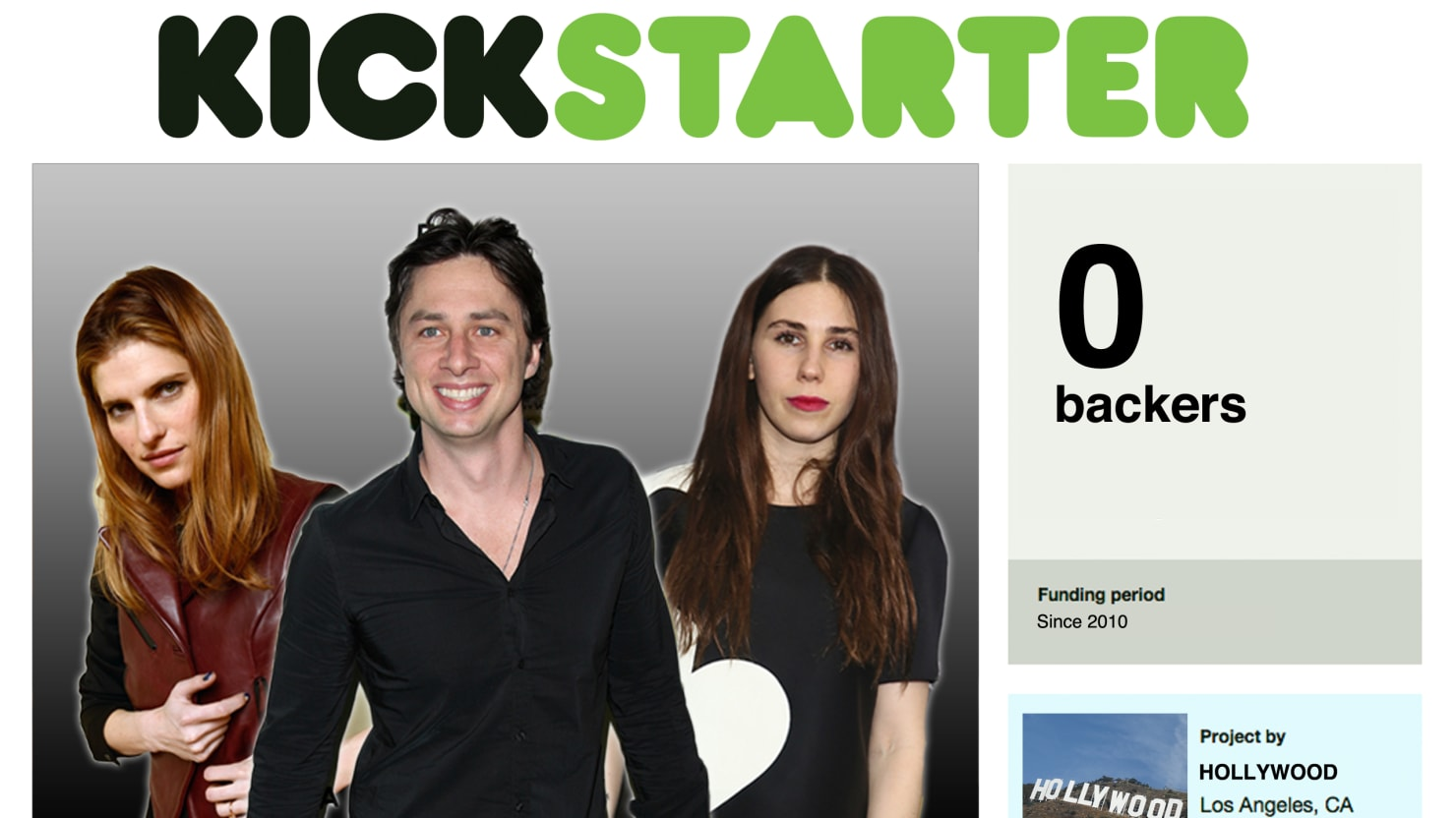 How Celebrities Are Ruining Kickstarter