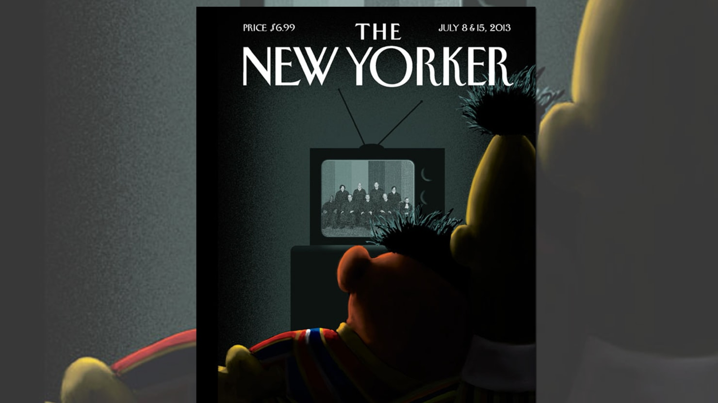 The New Yorker's Bert & Ernie Cover Is Fantastic (Even If They're Not Actually Gay…)