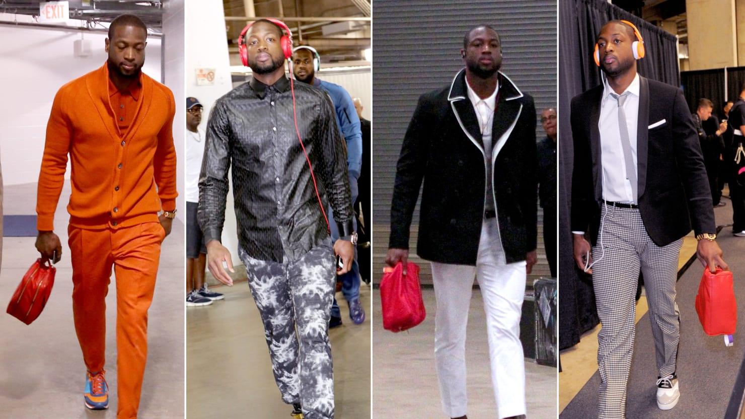 Dwyane Wade's Wild NBA Playoffs Style (PHOTOS)