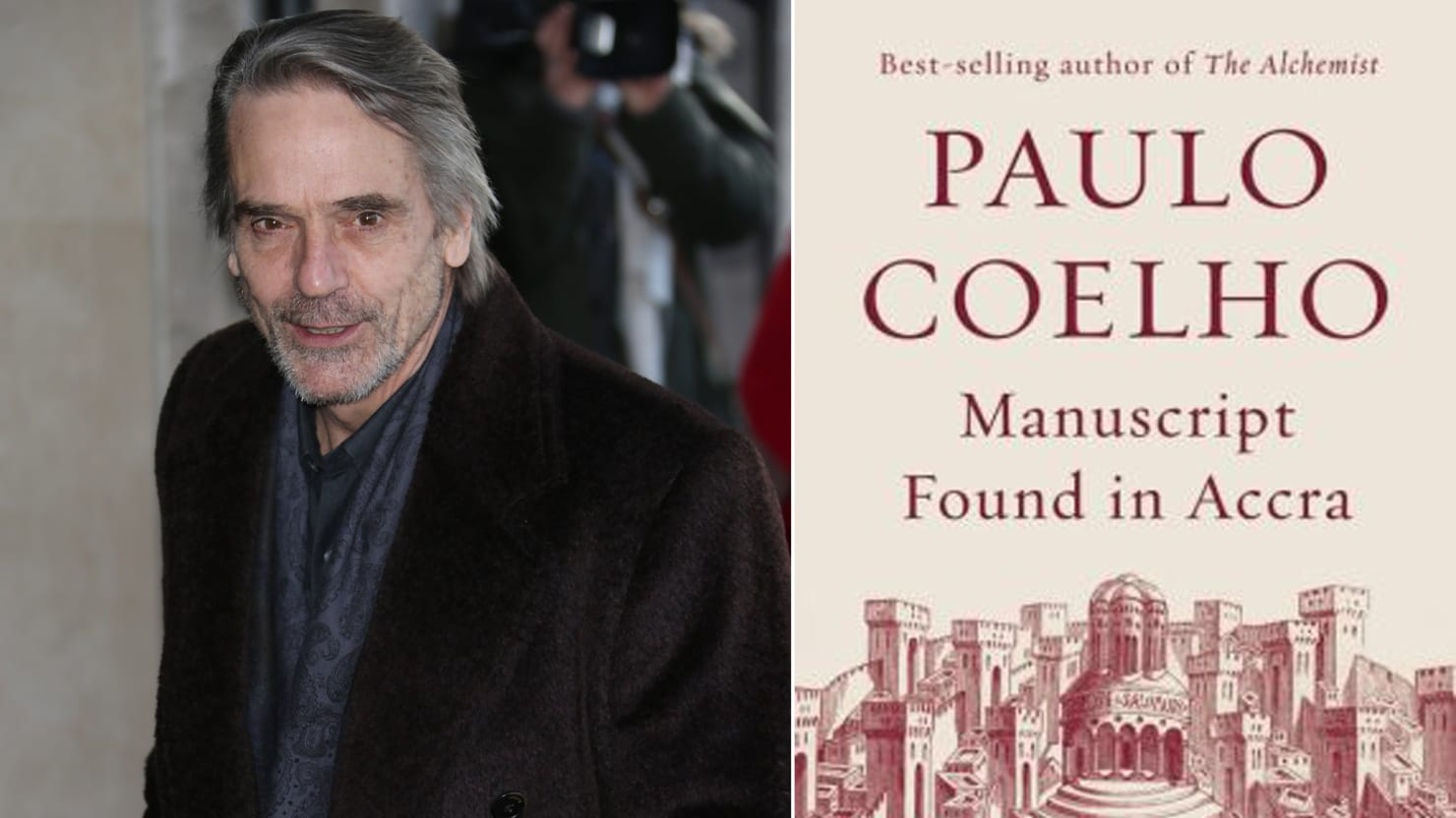 Jeremy Irons Reads from Paulo Coelho's New Book, 'Manuscript Found in Accra'