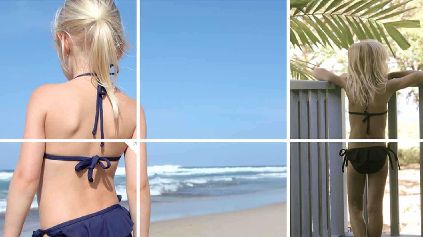 Little girls bikini controversy