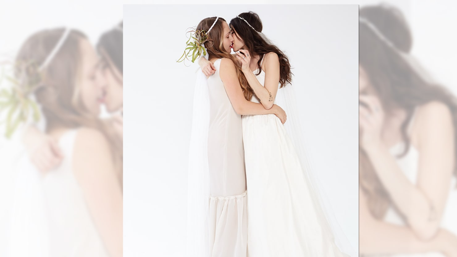 Jemima Kirke and Pamela Love Kiss For New Bridal Brand