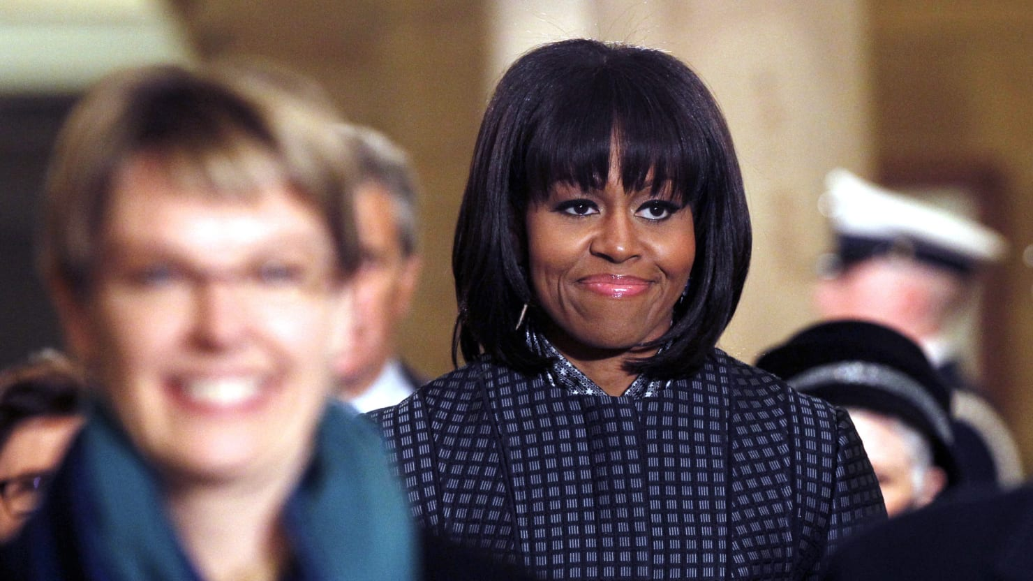 Mobama's Bangs Appear at the Grammys