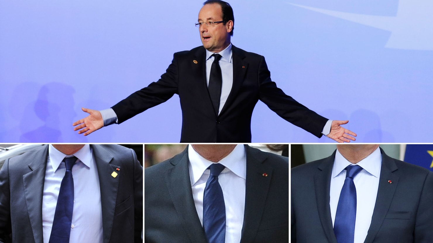 Francois Illas New Tradition: French President Francois Hollande's Inability To Tie A