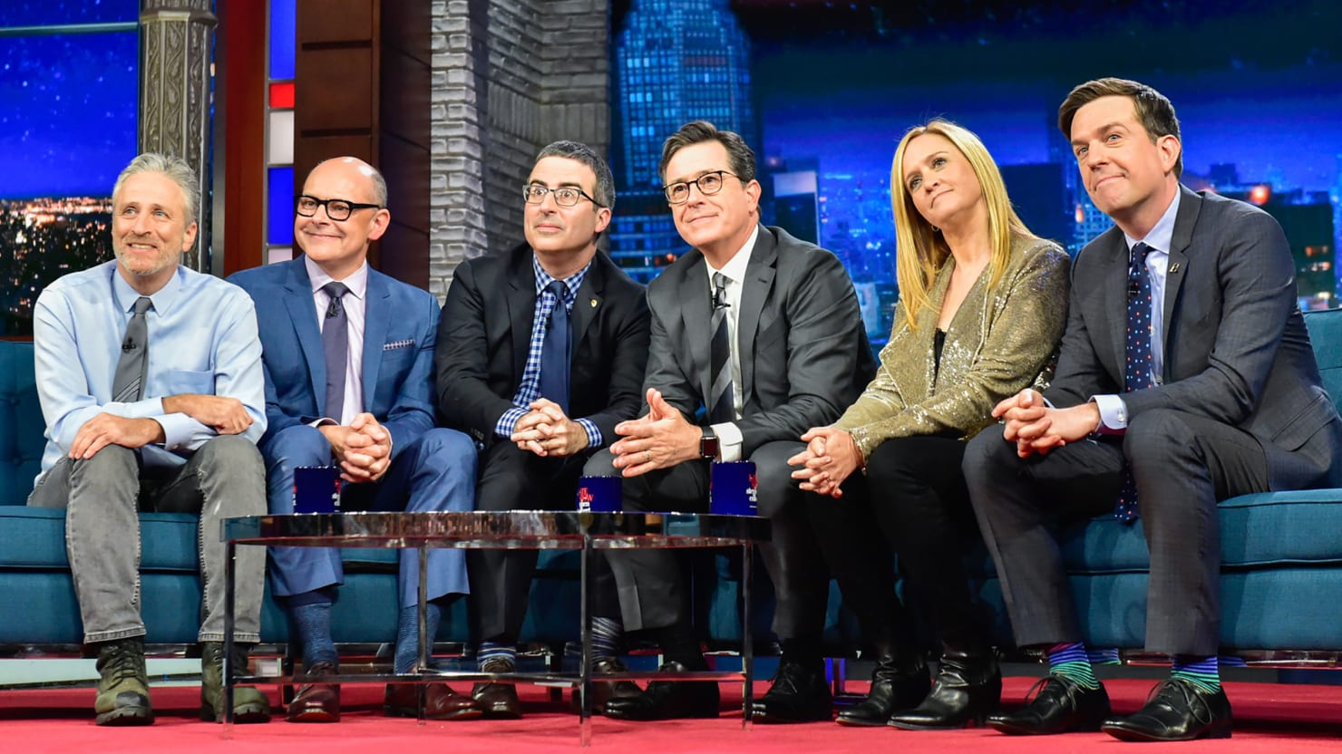 jon stewart defends stephen colbert�s �potty mouth� during