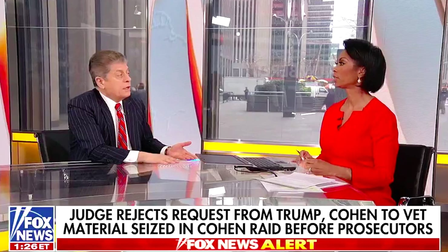Image result for napolitano on cohen and hannity