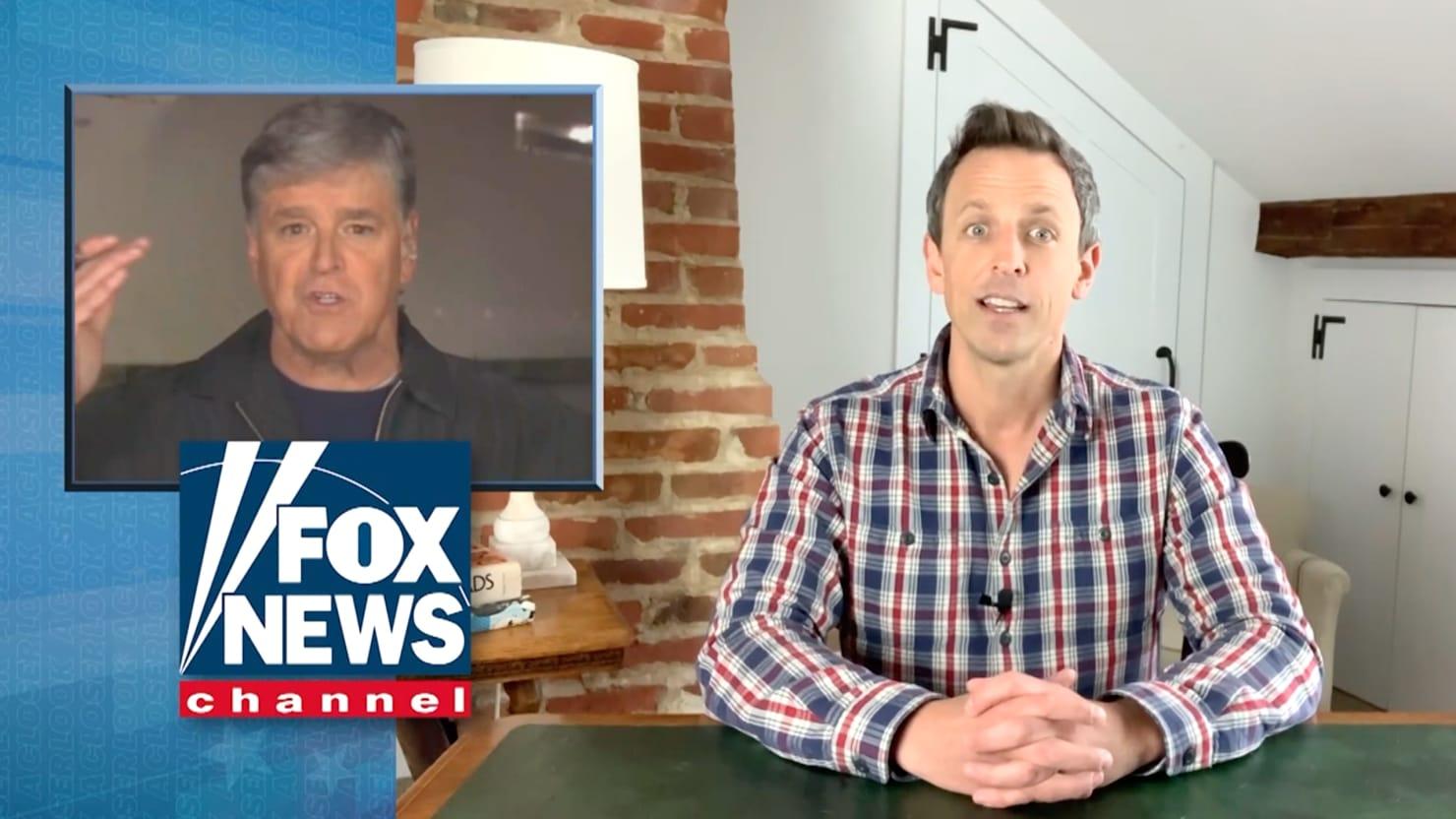 Seth Meyers Exposes Hannity's Huge Coronavirus 'Hoax' Lie