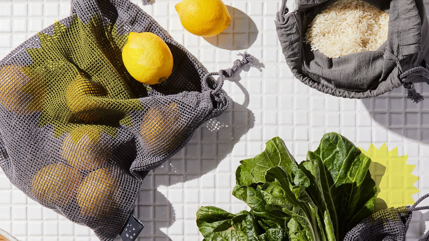 Food 52 Bags of Reusable Products Organize Your Refrigerator and Save Plastic