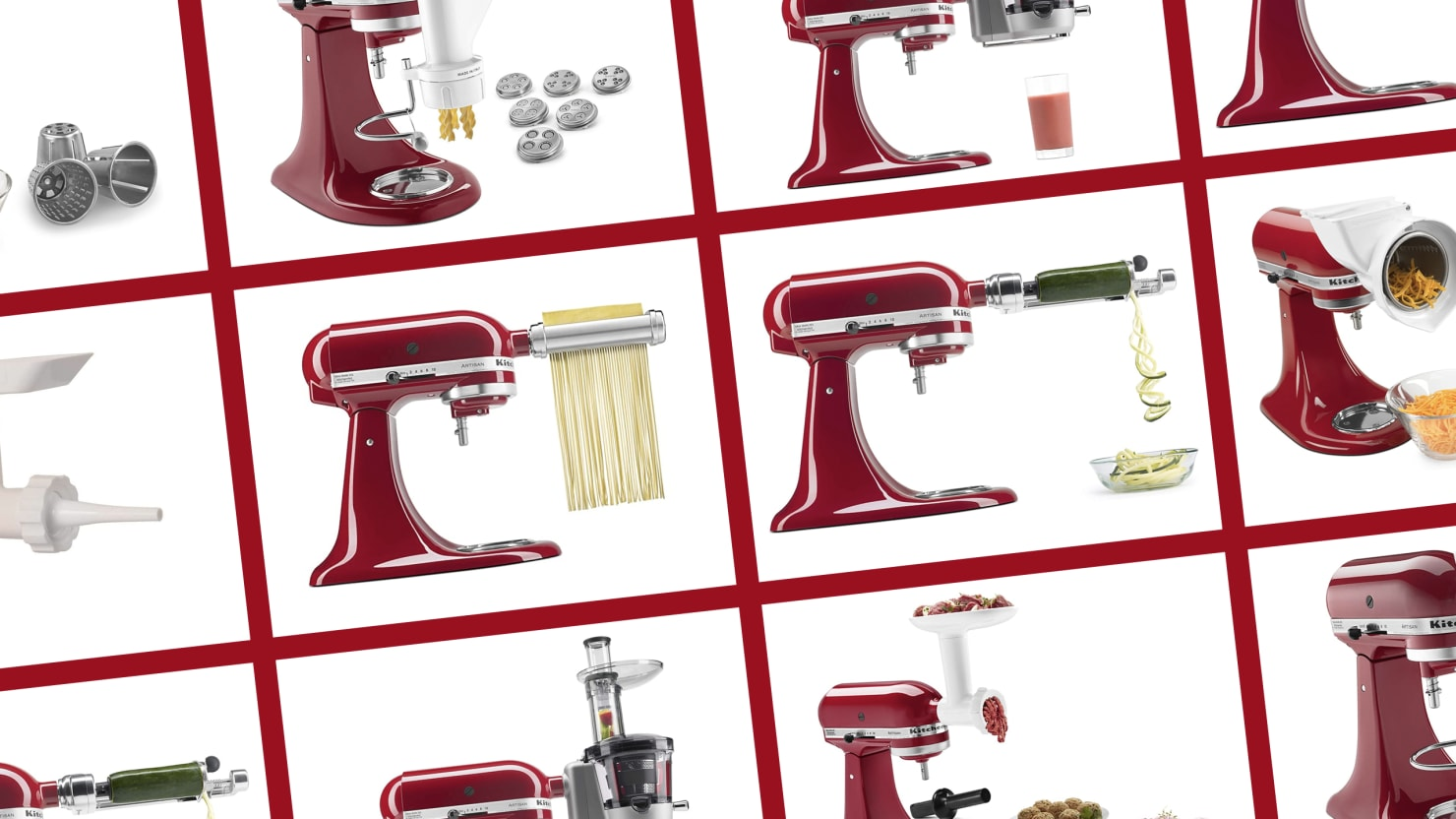 That Kitchen Aid You Use Twice a Year Can Also Make Pasta, Stuff Sausages, Spiralize, and Juice