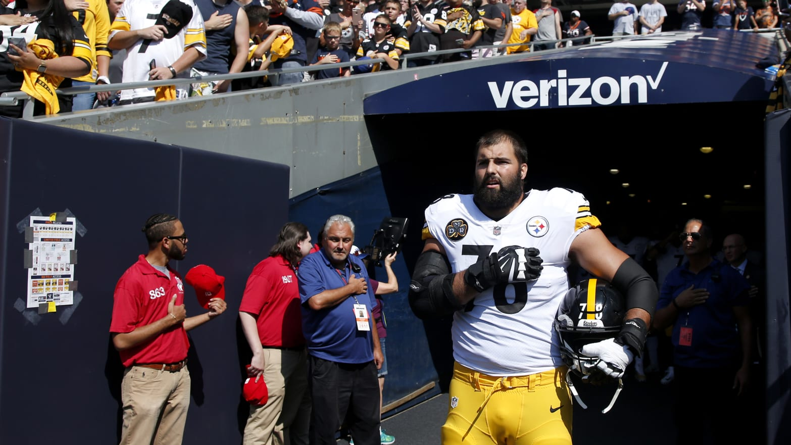 Alejandro Villanueva #78 of the Pittsburgh Steelers
